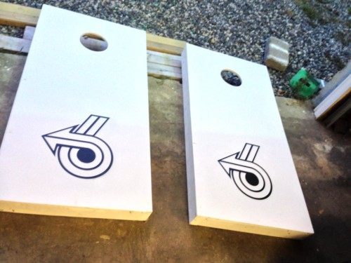 corn hole boards - toss game