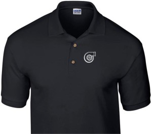 TURBO CHARGER LOGO BLACK POLO SHIRT
