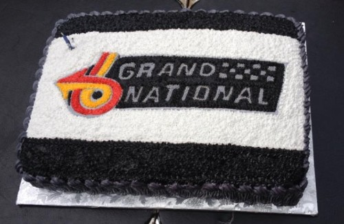 buick grand national logo cake