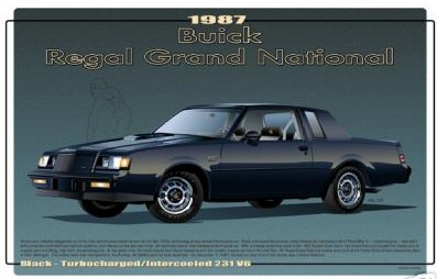 1987 buick gn print