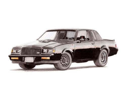 1987 buick grand national 8x11 limited edition print by j bylsma