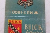 Buick Car Dealer Book Matches