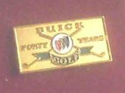 buick golf 40 years pin