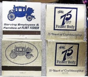 fisher body matchbooks