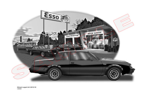 limited edition buick gn garage print