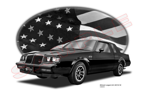 limited edition buick gn print