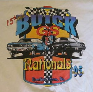 15th Annual 1995 GSCA Nationals shirt