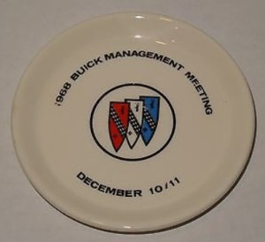 1968 BUICK MANAGEMENT MEETING DRINK COASTER
