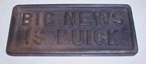 Buick Cast Iron Newspaper Weight