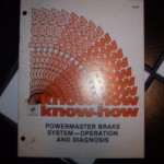 POWERMASTER BRAKE SYSTEM MANUAL