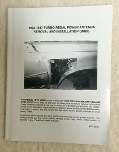 buick regal power antenna repair book