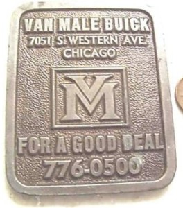 van male buick dealer paperweight 1