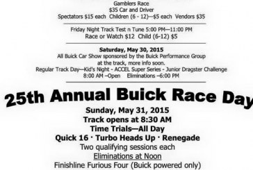 OH: Buick Race Day 5/29-31/15
