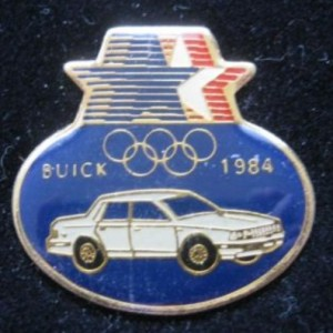 1984 Buick Car Sponsor Los Angeles Olympic Lapel Pin