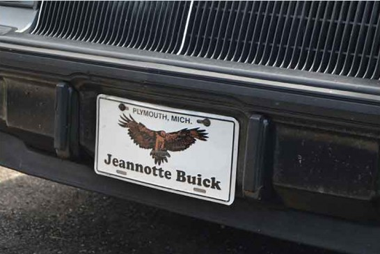 Sweet Buick License Plates