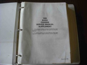1985 buick chassis service manual supplement