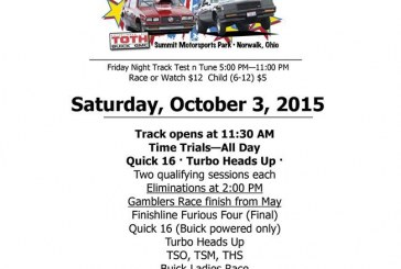 Buick Race Day Rescheduled 10/3/15