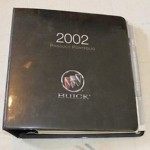 2002 Buick Product Portfolio Dealer Binder 1