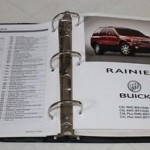 2004 Buick Product Portfolio Advertising Binder Covers Rainier Rendezvous Park Avenue LeSabre Regal Century 2