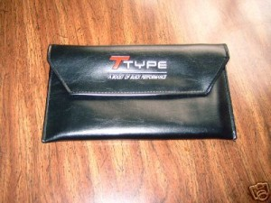 t type leather document holder