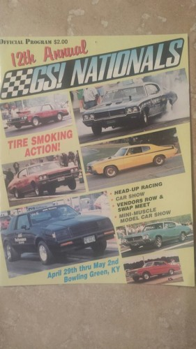 buick gs nationals official program