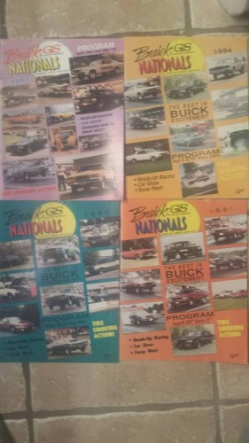buick gs nationals programs