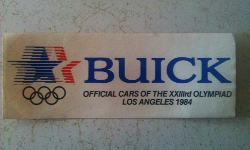 official 1984 Olympic bumper sticker