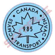 repro-canada maple leaf transport decal