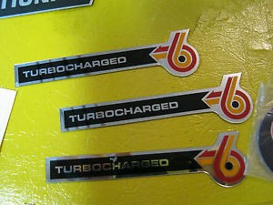 turbocharged turbo 6 emblem decal