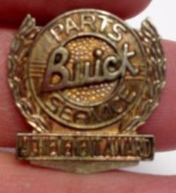 Buick Parts Service Achievement Award pin