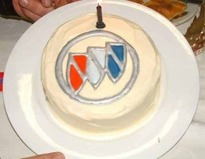 buick triple shield cake