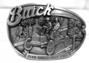 1984 BUICK COMMERATIVE PEWTER BELT BUCKLE