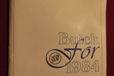 1984 Buick Media Press Kit