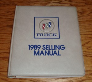 1989 Buick Selling Manual 1