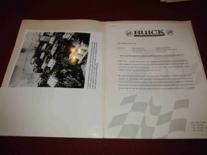 1995 Buick Motorsports Press Kit