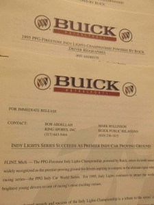1995 Buick Motorsports Press Kit 3