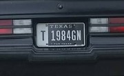 1984 gn license plate