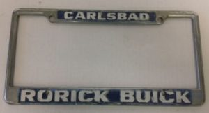 Rorick Buick License Plate Frame