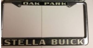 Stella Buick License Plate Frame