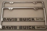 Buick Auto Dealer License Plate Frames