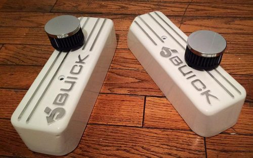 white powdercoated buick valve covers