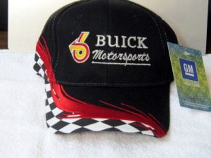 buick motorsports black red checkered hat