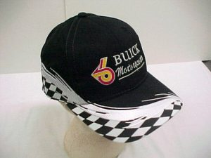 buick motorsports black white-checkered hat