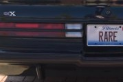 1987 Turbo 6 License Plates