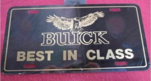 buick best in class hawk license plate