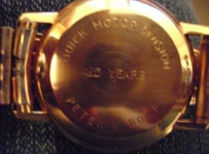 14K GOLD BUICK MOTOR DIVISION WATCH 25 YR SERVICE