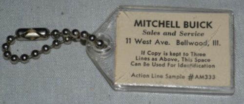 Mitchell Buick Advertising keychain 1