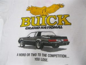 buick grand national competition shirt