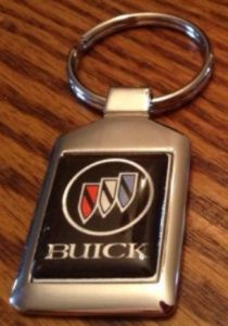 buick triple shield logo keychain