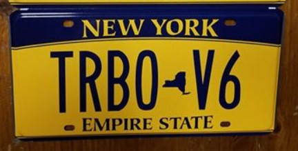buick turbo v6 license plate